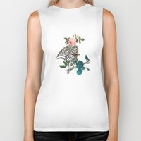 romantic Biker Tanks featuring Romantic Halloween by Paula Belle Flores