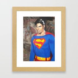Superman - Christopher Reeve Framed Art Print
