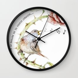 The nightgale and the rose Wall Clock