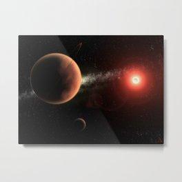 Carbon Planet Metal Print