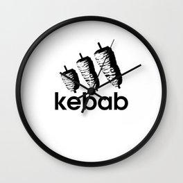 Funny Kebab Wall Clock
