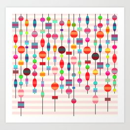 Colorful pearls Art Print