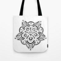pentagram Tote Bags featuring Pentagram by Captain Dibbzy