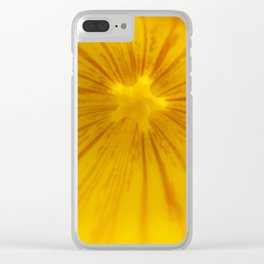 Yellow Magic Star by Mandy Ramsey, Haines, AK Clear iPhone Case