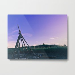Purple Tipi Metal Print