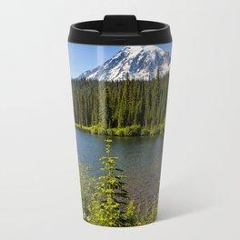 Wildflower Color by Reflection Lake and Mt Rainier, No. 2 Travel Mug