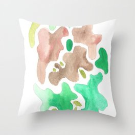 171115 Colour Shape 4 abstract shapes art design  abstract shapes art design colour Throw Pillow