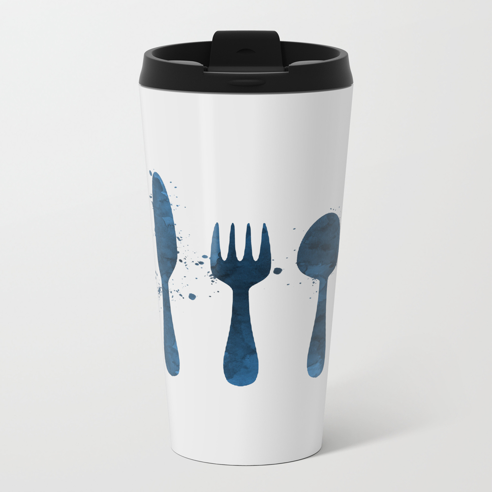 Cutlery Metal Travel Mug by Thejollymarten MTM7851337