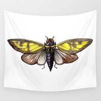 insect Wall Tapestries featuring Insect by Freja Friborg
