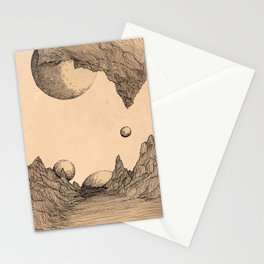 Worlds Collided Stationery Cards