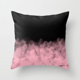 Black with Pink Minimal Throw Pillow