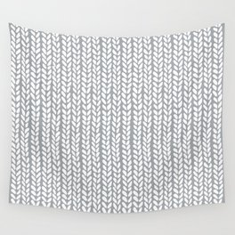 Knit Wave Grey Wall Tapestry