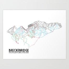 Breckenridge, CO - Minimalist Trail Map Art Print