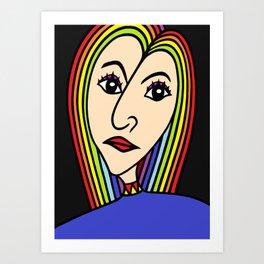Rainbow Girl Art Print