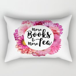 More Books and More Tea Rectangular Pillow