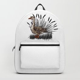 Goose in a reed Backpack