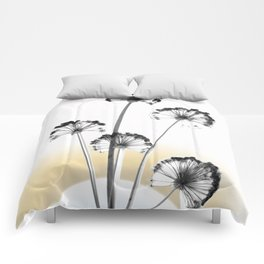 black and white flower wallpaper and the sun, flower decor, printable art Comforters