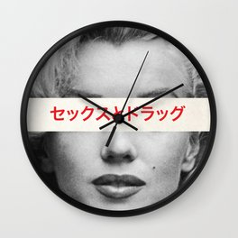 Sex, Drugs & Alcohol Wall Clock