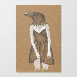 ANIMAL INSTINCTS -BIRD GIRL Canvas Print