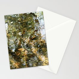 Tree Reflected in Shallow Water Stationery Cards