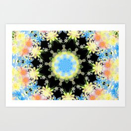 Kaleidoscope 'Twisted Flower' Art Print