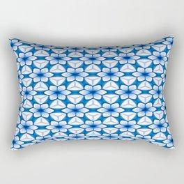 Bright Blue Flower Trellis Rectangular Pillow