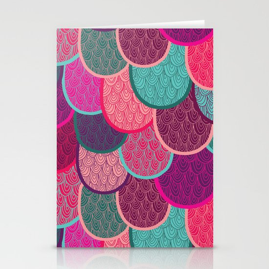Fish Scales and Mermaid Tales Stationery Cards