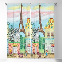 Happy in Paris Blackout Curtain