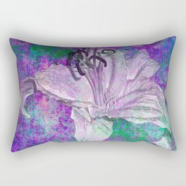 Lily on Purple Rectangular Pillow