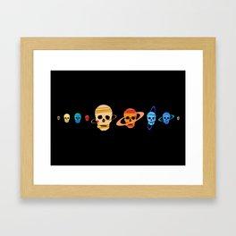 Skull Planets Framed Art Print