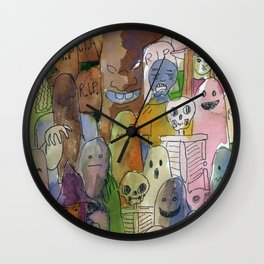 horror cute pattern Wall Clock