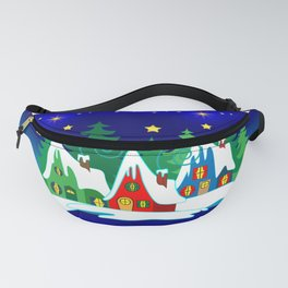 Home for the Holidays Picture,Christmas and Holiday Fantasy Collection Fanny Pack