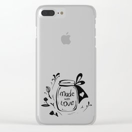 Made with love Clear iPhone Case