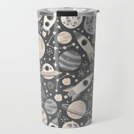 Space Black & White Travel Mug