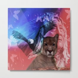 Native American Indian Metal Print