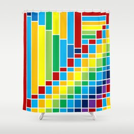 Fuzz Outline Shower Curtain