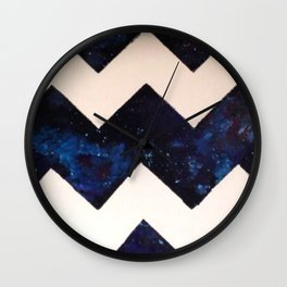 Galaxy Chevron Wall Clock