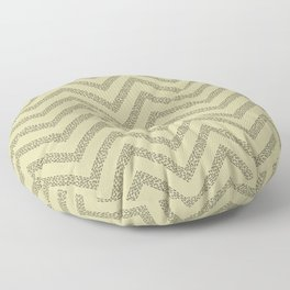 Sketched Mustard Dotted Line Chevrons Floor Pillow