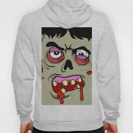Cartoon Zombie face Hoody