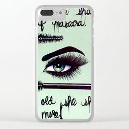 Wear Lots of Mascara Clear iPhone Case