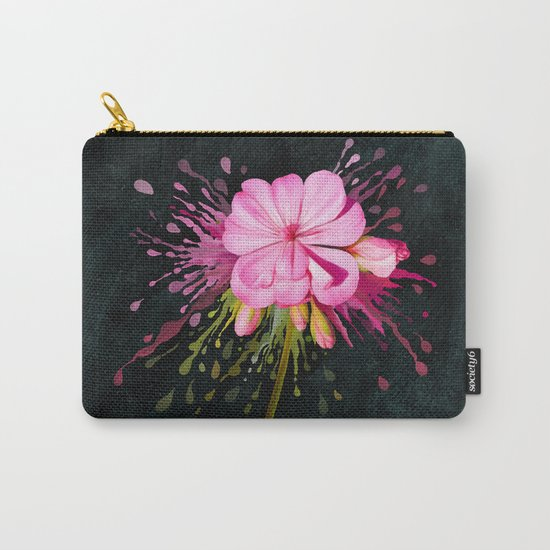 Color Eruption On Distressed Dark Carry-All Pouch