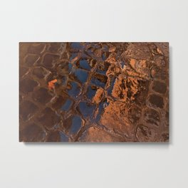 Coppery Cobble Stones Metal Print