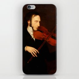 Niccolò Paganini by Daniel Maclise (1831) iPhone Skin