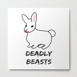Deadly Beast Metal Print