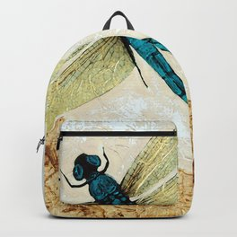 Zen Flight - Dragonfly Art By Sharon Cummings Backpack