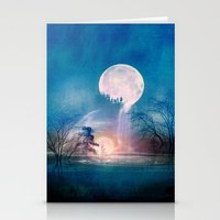 sun and moon Stationery Cards featuring Moon Above, Sun Below by Viviana Gonzalez