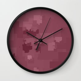 Crushed Berry Square Pixel Color Accent Wall Clock