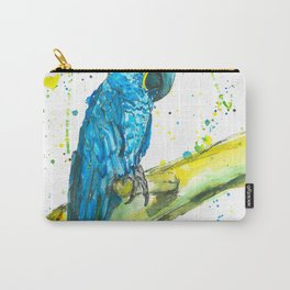 Parrot (Hyacinth Macaw) - Watercolor Painting Carry-All Pouch