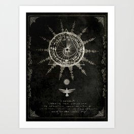 Book of the Sun (akashic records) Art Print