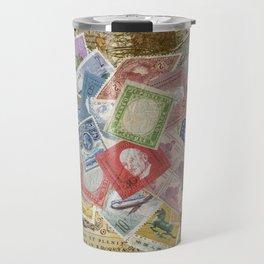 World Stamps Travel Mug